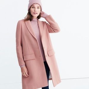 Madewell | Pink Teatro Swing Coat In Old Rose
